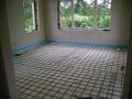Renovatie betonvloer.